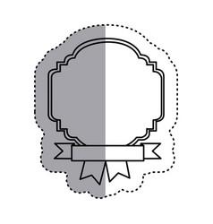 sticker silhouette border heraldic decorative with vector image vector image