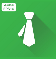 Tie icon business concept necktie pictogram on vector