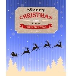 Vintage christmas card design vector