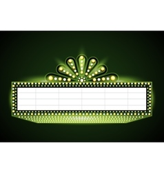 Brightly theater glowing green retro cinema neon vector