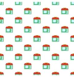 Shop building pattern cartoon style vector image