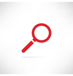Find Icon Red vector image