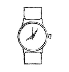 Luxury wristwatch clock vector
