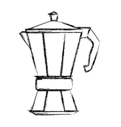 Coffee kettle isolated vector