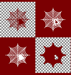 Spider on web   bordo and vector