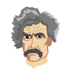 Famous writer mark twain vector