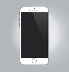 Realistic device mockup white color smartphone vector