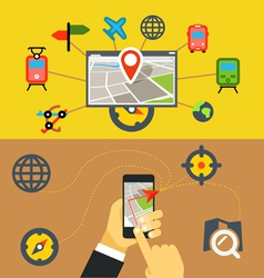 Transportation digital applications vector