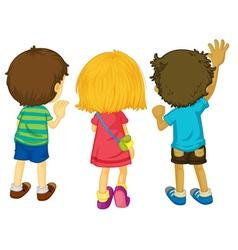 3 kids vector image vector image