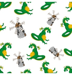 Dragon seamless pattern vector