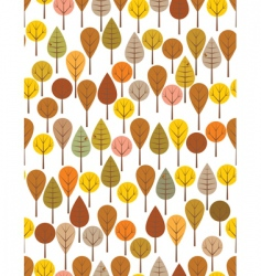 Autumn woods vector