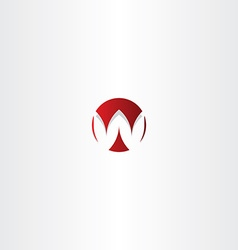 Letter w red sign logo element vector
