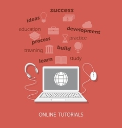 Online tutorials vector