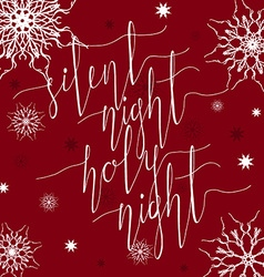 Silent night holy night vector