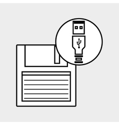 Usb connection design vector