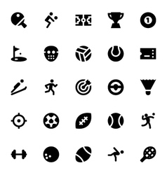 Sports and games icons 1 vector