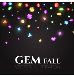 Falling Multicolor Gems vector image