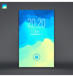 Modern Lock Screen for Mobile Apps vector image