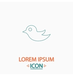 Bird computer symbol vector