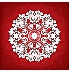 Abstract circle floral ornamental border Lace vector image vector image