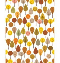 autumn woods vector image vector image