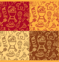 barbecue grill pattern vector image