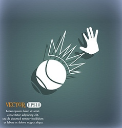 Basketball icon On the blue-green abstract vector image
