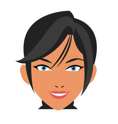 Beautiful face woman business concept vector