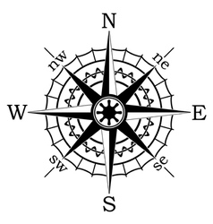 Black compass vector