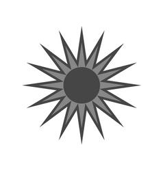 Black design element light sign sun vector