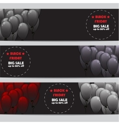 Black Friday banners set vector image vector image