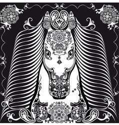 black horse101 vector image vector image