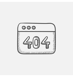 Browser window with the inscription 404 error vector image