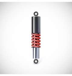 Car shock absorber and spring vector image