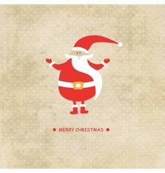 Christmas card with Santa Klaus vector image vector image