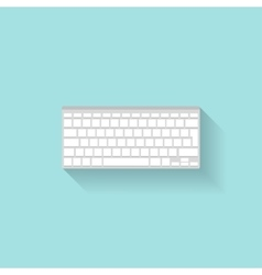 Computier keyboard in a flat style typing vector