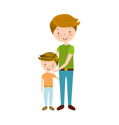 father with son avatars vector image
