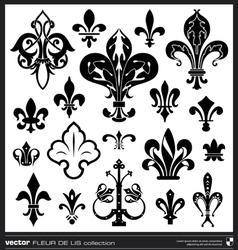 Fleur de lis silhouettes vector image