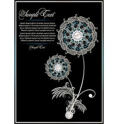 Flower card design vector
