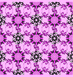 flowers on neutral black and magenta colors vector image vector image