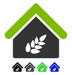 Grain warehouse flat icon vector