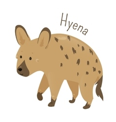 Hyena isolated child fun pattern icon vector