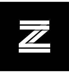 Letter Z wide white stripes Logo monogram emblem vector image vector image