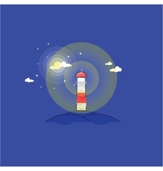 Lighthouse in the hills vector