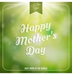 Mothers day background EPS 10 vector image vector image