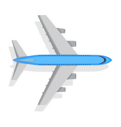 Plane icon on white background transport vector