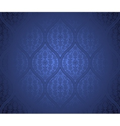 Seamless moroccan pattern background vector image