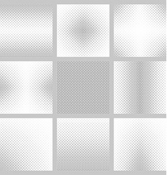 Set of nine rounded square patterns vector