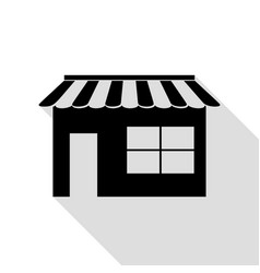 store sign black icon with flat vector image vector image