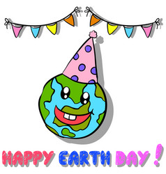 Style earth day design collection vector